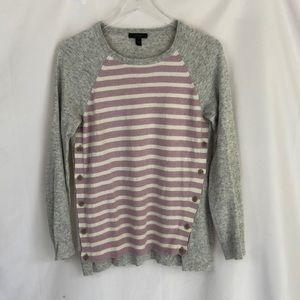 J.Crew Wool Rabbit Hair Sweater in Stripe Size M